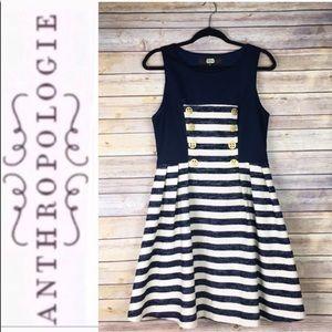 Anthropologie Eva Franco Nautical Stripe Dress